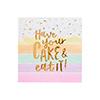Pastel Cake Paper Napkins
