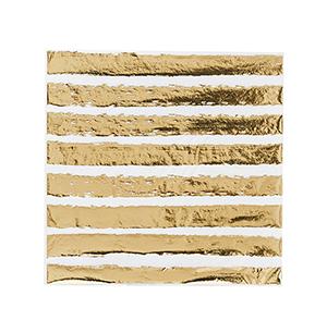 Gold Striped Paper Napkins