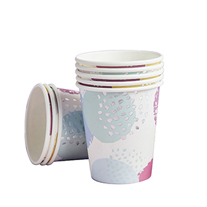 Pastel Patterned Paper Cups