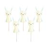 Oh Baby Bunny Tassel Cake Picks - Pack of 6
