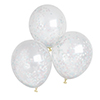 Oh Baby Multi Coloured Confetti Filled Balloon (Unisex Range) - Pack of 5