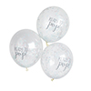 Oh Baby - Ready to Pop Multi Coloured Confetti Filled Balloon (Unisex Range) - Pack of 5
