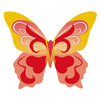 Wafer Butterfly Assorted Colours 30 x 70mm - Pack 260