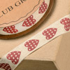 Natural Ribbon with Hearts