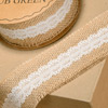 Hessian with Ivory Lace
