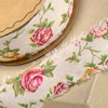 Linen Country Garden Ribbon