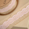 Hessian with Rose Pink Lace