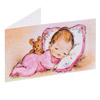 Gift Tags Baby on pillow