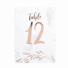 Rose Gold Table Numbers 12 Pack