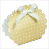 Dots Gold Round Bag Box