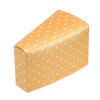 Dots Gold Cake Slice Box