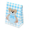 Gingham Teddy Bear Pochette with Heart