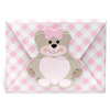 Gingham Teddy Bear Wallet