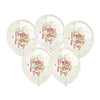 HAPPY MOTHER'S DAY CONFETTI BALLOON 5PK