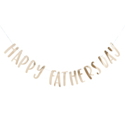 HAPPY FATHER'S DAY GOLD BANNER 1PK 2M