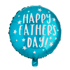 FATHER'S DAY TEAL ROUND FOIL BALLOON 1PK 20
