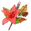 Hessian Christmas Poinsettia with Berries