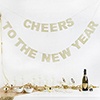 'Cheers to the New Year' Bunting