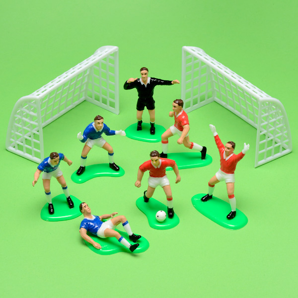 Plastic Football Kit With 6 Players 1 Referee And 2 Goals