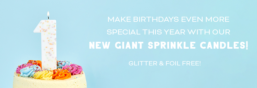 Giant Sprinkle Candles