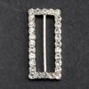 Large Diamanté Rectangle Ribbon Buckle