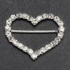 Large Diamanté Heart Ribbon Buckle