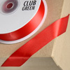 Double Sided Satin Ribbon 10mm x 25M Red