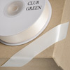 Double Sided Satin Ribbon 15mm x 25M Ivory