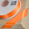 Double Sided Satin Ribbon 15mm x 25M Orange