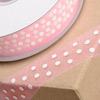 Organza Ribbon White Spots
