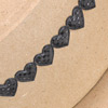 Dotted Padded Heart Ribbon