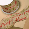 Hessian Wired Merry Christmas