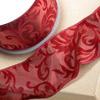 Wired Edge Ribbon Glitter Swirl