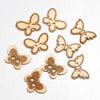 Wooden Butterfly Buttons 3 asssorted designs 9 per pack