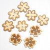 Wooden Flower Buttons 3 asssorted designs 9 per pack
