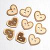 Wooden Heart Buttons 3 asssorted designs 9 per pack