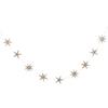 GLD STAR WOOD GARLAND 2mt