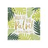 Tropical Leaf Patterned Paper Napkins