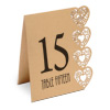 Table Numbers 1-15 Laser Heart