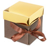 3-Layers Chocolate Box with Gold Lid