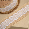Hessian with White Lace