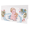 Gift Tags Baby on blue pillow