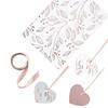 Heart Gift Tags Wrap Kit (3x Gift Tags, 2x Gift Wrap & 2x Ribbon)