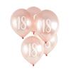 18th' Milestone Balloons 5 Pack