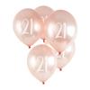 21st' Milestone Balloon 5 Pack