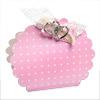 Dots Hot Pink Round Bag Box