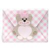 Gingham Teddy Bear Wallet