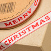 Merry Christmas on Ribbon 12mm x 10M Red/Natural