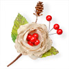 Fabric Christmas Flower with Berries