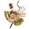 Brown Hessian Christmas Flower with Cone